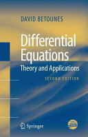 Differential Equations Theory And Applications David Betounes Google Livres
